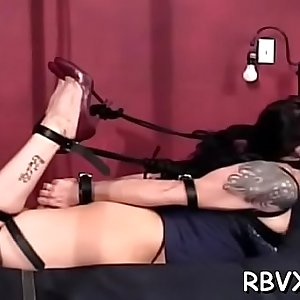 Nasty chick gets mistreated and titillated gonzo style