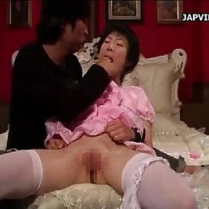 Asian Teen Handjob with a Toy Session