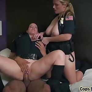 Black guy gets invaded by duo of horny cops