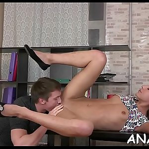 Mind-blowing anal gratifying with a lascivious young couple