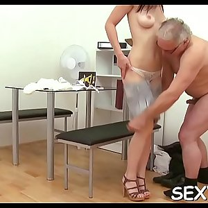 Petite playgirl is getting tenacious doggystyle sex from teacher