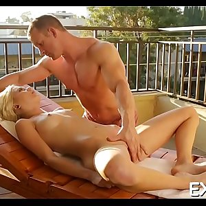 Concupiscent stunner starts groaning from lots of wild orgasms