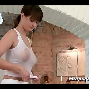 Special massge with oil and oral pleasure