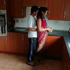 Crimson saree Bhabhi caught watching porn seduced and fucked by Devar dirty hindi audio desi chudai leaked scandal sextape bollywood POV Indian