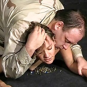 Military bdsm and humiliation of Emma Louise