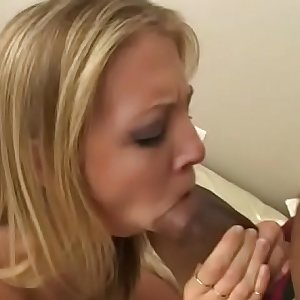 Perfect Leah Luv takes her white  panties for hard sex with a black man