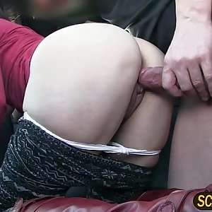 Christines pink tits gets paid in taxi