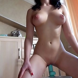 Teen Masturbate and Fucking Faux-cock with Multiple Orgasm