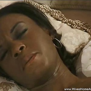 Ebony Wife Enjoys Her Own Body Alone