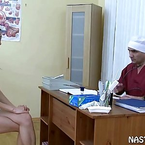 Asian Girl fucking her musch older doctor