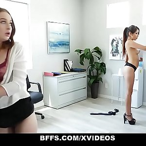 BFFS - Horny Interns Share Cock With Their Boss