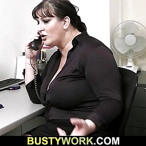 Huge bitch is fucked by future boss