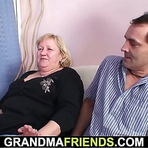 70 yo granny gives dual head then fucked