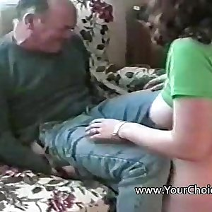 Homemade hook-up with busty amateur and two men