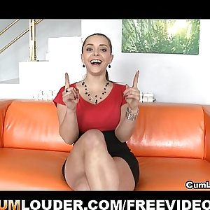 Liza del Sierra plays with her Boobies and gets a Ramming
