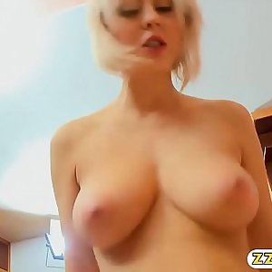Big tits maid Mandy Dee pounded real hard on the bed