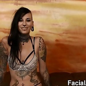 (new) Tatted freak slut Tank rough facehole fucking and DP