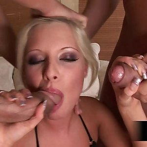 Lolita is a slut and wants two cocks to fuck