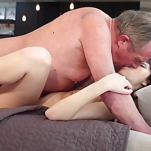 Old and Young Porn - Sweet innocent gf gets fucked by grandpa