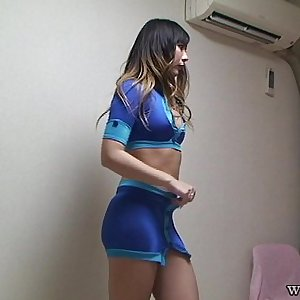 Japanese Glamour Woman Switch from Lingerie to Race Queen