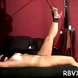 Moist older babe experiences true hardcore bondage