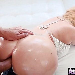(Summer Brielle) Thick Butt Oiled Girl String up Anal Hardcore Intercorse clip-30