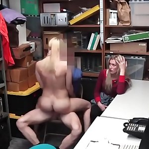 Teen dude banging the hottest officer to pieces