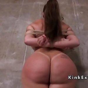 Huge ass and tits sub in dungeon