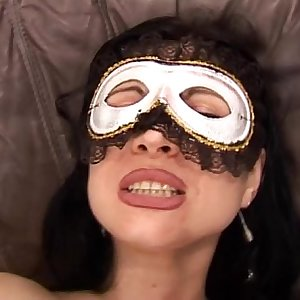 Masked amateur bitch knuckle herself