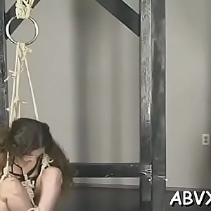 Teen delights with severe pleasure on her hairless salacious cleft
