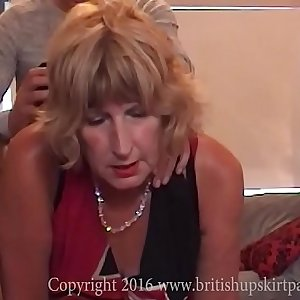 British mature Rosemary gets ass fucked and swallows a mouthful of cum