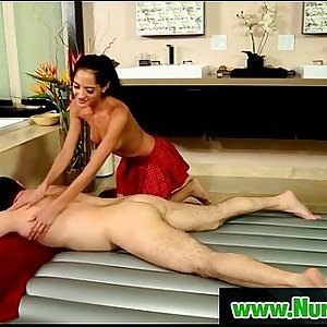 Sliperry massage performed by sexy asian masseuse   13