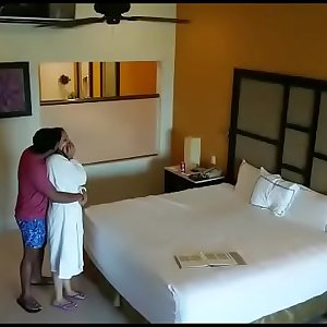 Spy camera caught husband wife having sex in hotel room