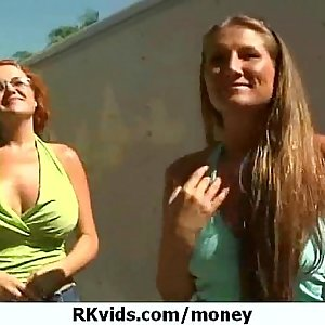 Getting a chick from public and fuck her for money 18