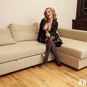 This blonde European teen jail-bait gets fucked hard and rough during her first-time porn audition and later pissed all over her by her casting director