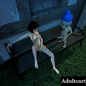 3D Babe Has Her Tits and Pussy Fucked by a Dwarf