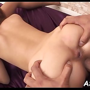 Japanese ass fucking toying and going knuckle deep