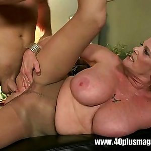Big tits mature with Pierced vagina