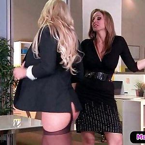 Hot and Mean Lesbo Porn - Disciplinary Action Part One with Julia Ann & Olivia Austin 01