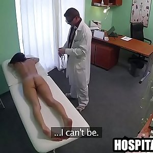 Inked fledgling dark-haired babe gets fucked thday treat to lonely sexy patient 720 6