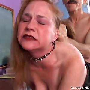 Kinky old spunker likes a rough fucking and a gooey facial cumshot