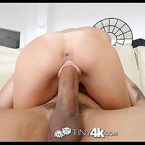 Tiny4k - Hollie Mack gets her tight pussy stuffed with cock