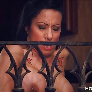 Chesty Cougar Squirts from her Balcony