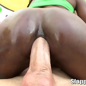 Two ebony sluts Yasmine De Leon and Ana Foxxx