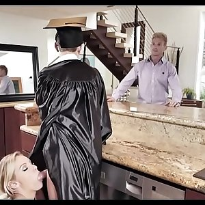 MOM KNOWS HOW TO REWARD  GRADUATED SON