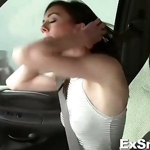 Petite Woman Gives Blowjob and Dicked