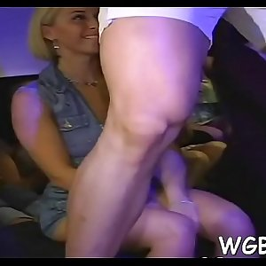 Horny darlings are deligthing guy with moist fellatio