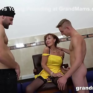 Granny Sprinkled at a Sex Club