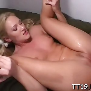 Schoolgirl with small scones gets team-fucked hard in lots of poses