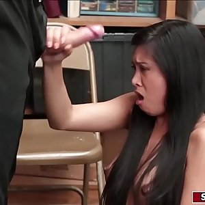 Asian shoplifter fucked by LP officer
